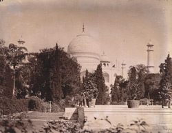 The Taj Mahal from the garden, Agra